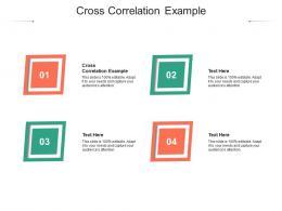 Cross Correlation Example Ppt Powerpoint Presentation Portfolio Elements Cpb