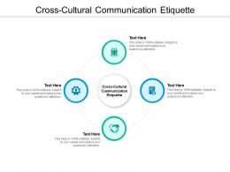 Cross Cultural Communication Etiquette Ppt Powerpoint Presentation Ideas Cpb
