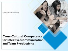 Cross Cultural Competence For Effective Communication And Team Productivity Powerpoint Presentation Slides