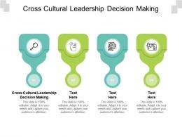 Cross Cultural Leadership Decision Making Ppt Powerpoint Presentation Outline Clipart Cpb