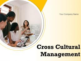 Cross Cultural Management Powerpoint Presentation Slides