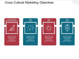 Cross Cultural Marketing Objectives Ppt Powerpoint Presentation Ideas Design Cpb