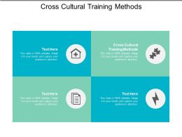 Cross Cultural Training Methods Ppt Powerpoint Presentation File Deck Cpb
