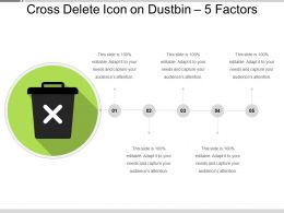Cross Delete Icon On Dustbin 5 Factors
