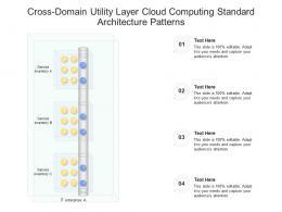 Cross Domain Utility Layer Cloud Computing Standard Architecture Patterns Ppt Presentation Diagram