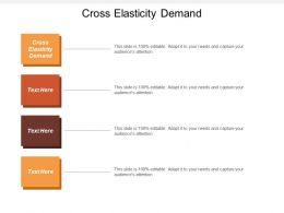 Cross Elasticity Demand Ppt Powerpoint Presentation File Samples Cpb