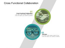 Cross Functional Collaboration Ppt Powerpoint Presentation Slides Shapes Cpb