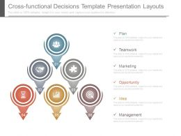 Cross Functional Decisions Template Presentation Layouts
