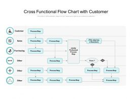 Cross Functional Flow Chart With Customer