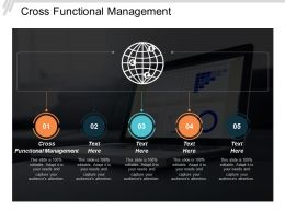 Cross Functional Management Ppt Powerpoint Presentation Layouts Portrait Cpb