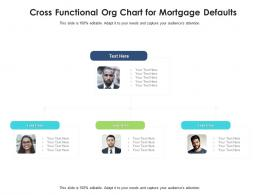 Cross Functional Org Chart For Mortgage Defaults Infographic Template