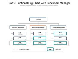 Cross Functional Org Chart With Functional Manager