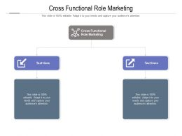Cross Functional Role Marketing Ppt Powerpoint Presentation Pictures Layout Cpb