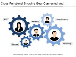 Cross Functional Showing Gear Connected And Professionals