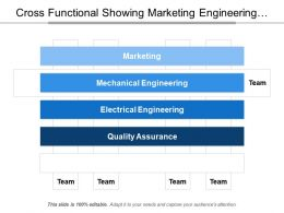Cross Functional Showing Marketing Engineering Quality Assurance