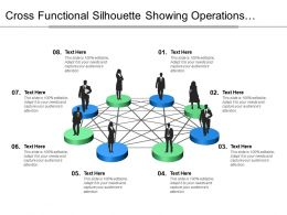 Cross Functional Silhouette Showing Operations Marketing