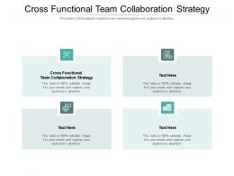 Cross Functional Team Collaboration Strategy Ppt Powerpoint Presentation Gallery Ideas Cpb