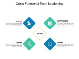 Cross Functional Team Leadership Ppt Powerpoint Presentation Icon Slideshow Cpb