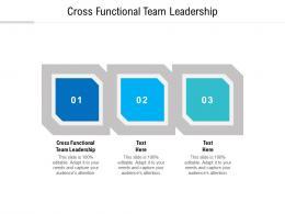 cross functional team leadership ppt powerpoint presentation portfolio microsoft cpb