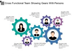 Cross Functional Team Showing Gears With Persons