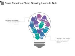 Cross Functional Team Showing Hands In Bulb