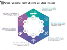 Cross Functional Team Showing Six Steps Process