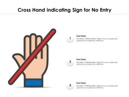 Cross Hand Indicating Sign For No Entry
