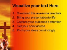 Cross Hands Religion PowerPoint Template 0610  Presentation Themes and Graphics Slide02