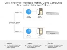 Cross Hypervisor Workload Mobility Cloud Computing Standard Architecture Patterns Ppt Slide