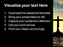 Cross In Water Religion PowerPoint Template 0610  Presentation Themes and Graphics Slide02