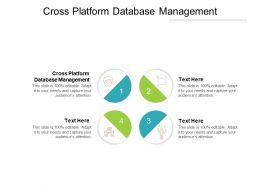 Cross Platform Database Management Ppt Powerpoint Presentation Portfolio Demonstration Cpb