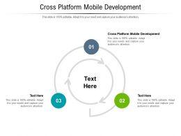 Cross Platform Mobile Development Ppt Powerpoint Presentation Styles Outfit Cpb