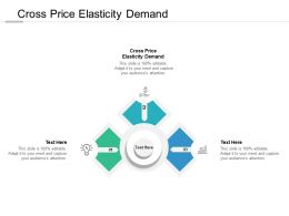 Cross Price Elasticity Demand Ppt Powerpoint Presentation Layouts Tips Cpb