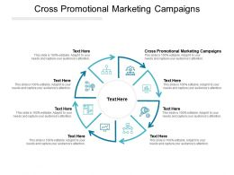 Cross Promotional Marketing Campaigns Ppt Powerpoint Presentation Infographic Cpb