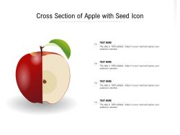 Cross Section Of Apple With Seed Icon