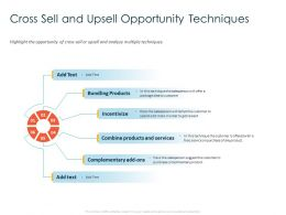 Cross Sell And Upsell Opportunity Techniques Bundling Ppt Powerpoint Presentation Slides Show