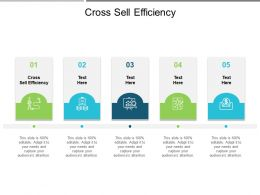Cross Sell Efficiency Ppt Powerpoint Presentation Icon Inspiration Cpb