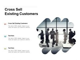 Cross Sell Existing Customers Ppt Powerpoint Presentation Ideas Information Cpb
