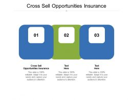 Cross Sell Opportunities Insurance Ppt Powerpoint Presentation Visual Aids Show Cpb