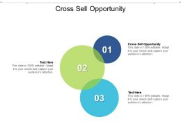 Cross Sell Opportunity Ppt Powerpoint Presentation File Icons Cpb