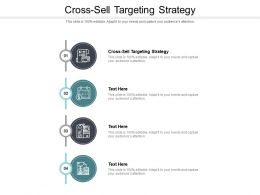 Cross Sell Targeting Strategy Ppt Powerpoint Presentation Pictures Influencers Cpb