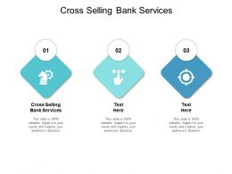 Cross Selling Bank Services Ppt Powerpoint Presentation Pictures Brochure Cpb