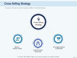 Cross Selling Cross Selling Strategy Encouraging Customer Interest Ppts Portfolio