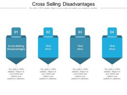 Cross Selling Disadvantages Ppt Powerpoint Presentation Gallery Deck Cpb