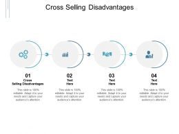 Cross Selling Disadvantages Ppt Powerpoint Presentation Model Graphics Cpb