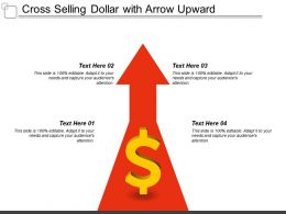 Cross Selling Dollar With Arrow Upward