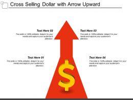 Cross Selling Dollar With Arrow Upward