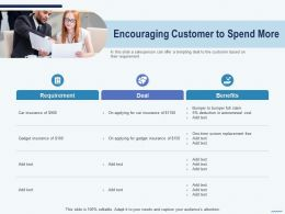 Cross Selling Encouraging Customer To Spend More Insurance Ppts Cliparts