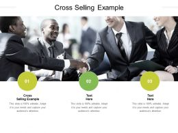 Cross Selling Example Ppt Powerpoint Presentation Pictures Layout Ideas Cpb