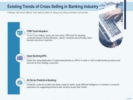 Cross Selling Existing Trends Of Cross Selling In Banking Industry Adoption Ppts Layouts